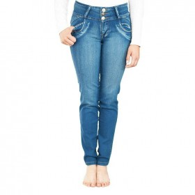 Jeans Azul Para Mujer Con...