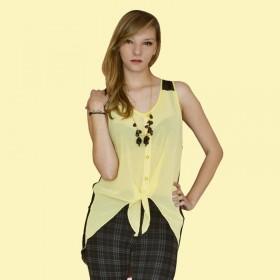 Blusa Para Mujer Amarillo Seda