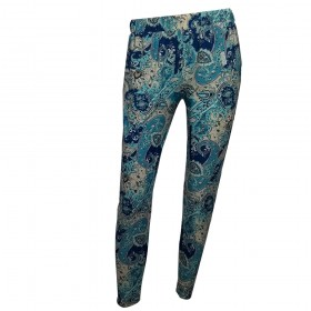 Pantalón bombacho azul...