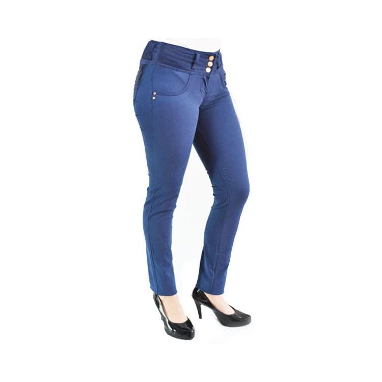 Pantalon Azul Oscuro Para Mujer Levantacola En Drill